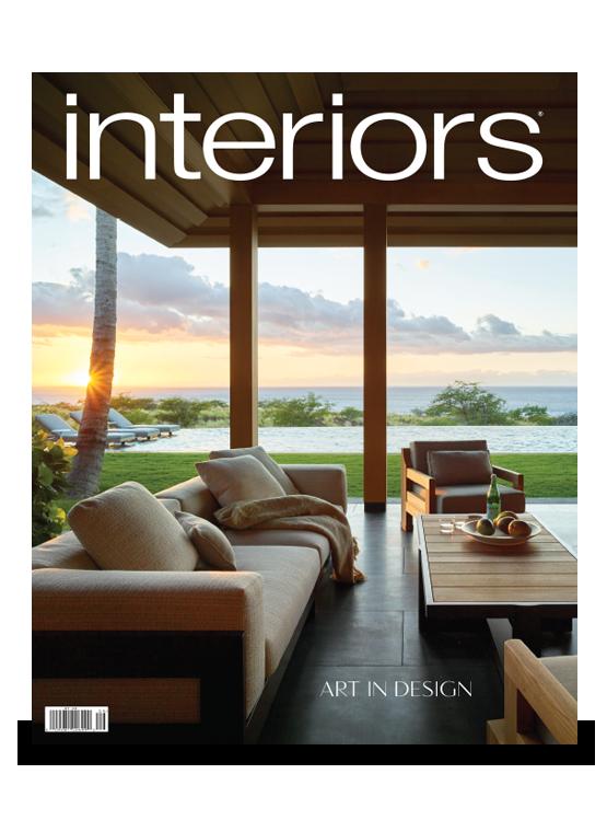 interiors magazine; interior design, art and architecture